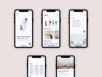 New Jersey Mall App #MadeWithAdobeXD shopping app ux user interface events app shopping app new jersey mobile app mobile app design iphone x app ui design madewithadobexd adobe xd