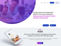 KidZone App Web interface