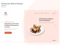 Restaurant Web UI Design