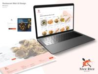 Nice Rice - Web UI Design