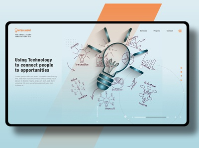Web UI - Landing Page for Intelligent Innovations Co