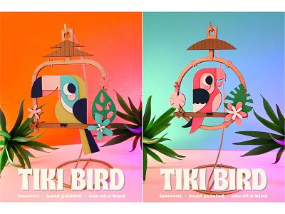 Tiki Birds fun simple colorful disney tiki room tiki birds tiki cute illustration