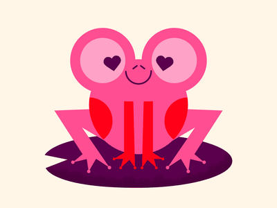 Toad-ally Into You frog toad valentines day valentines love vector happy character cute illustration