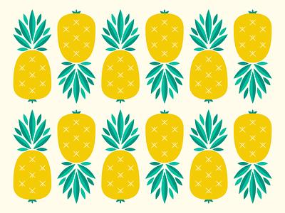 Pineapple Pattern island summer illustration. pattern tropical fruit pineapple