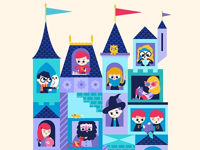 Hogwarts characters cute hogwarts castle harry potter