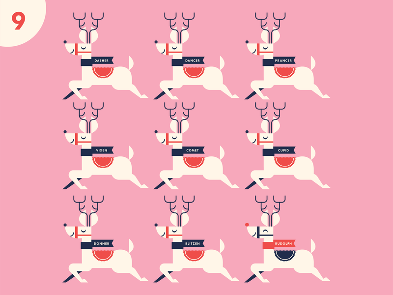 Ninth Day Of Christmas.Ninth Day By Pretend Friends On Dribbble
