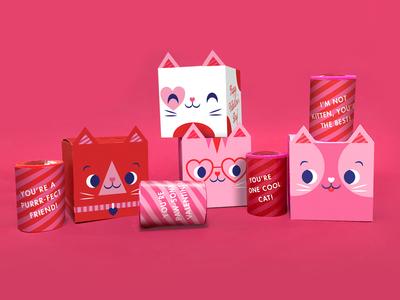 You're Purrr-fect Valentine vector happy character kitten illustrator illustration cute kitty valentines day heart love valentine cat
