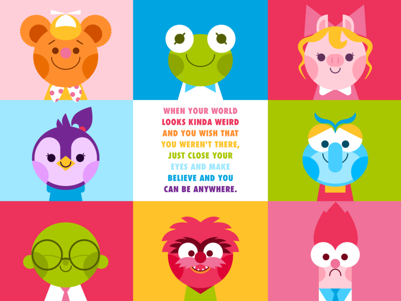 Muppet Babies vector colorful bunsen beaker animal gonzo piggy kermit fozzie muppet babies muppet disney character cute illustration