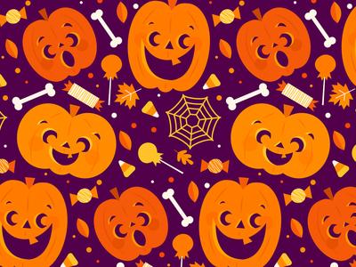 Happy Halloween! fall candy pumpkins pattern halloween holiday fun cute illustration