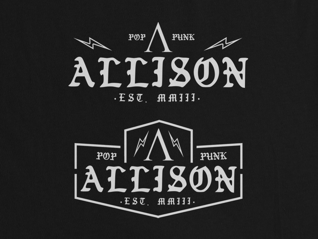 ALLISON PATCH tee design tee shirt tee patches patch pop punk pop punk music vector typography tshirt design tees design tshirt merch design merch clothing apparel