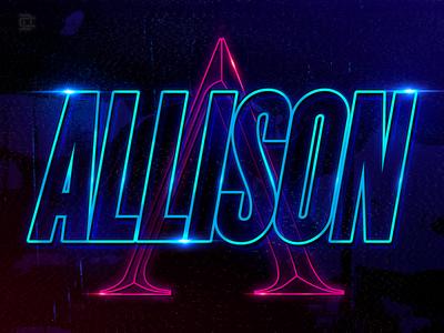 Allison neon style Backdrop 3