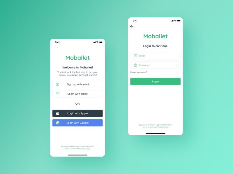 Login / Sign up UI icon login signup app mobile minimal ux ui typography design