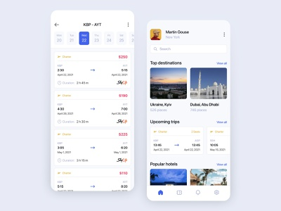 Flight Ticket App Design dribbble screen app icon travel tickets flight ux ui mobile typography minimal design