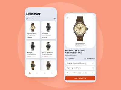 Mobile Redesign Watch E-commerce redesign watch e-commerce mobile ui ux typography minimal design