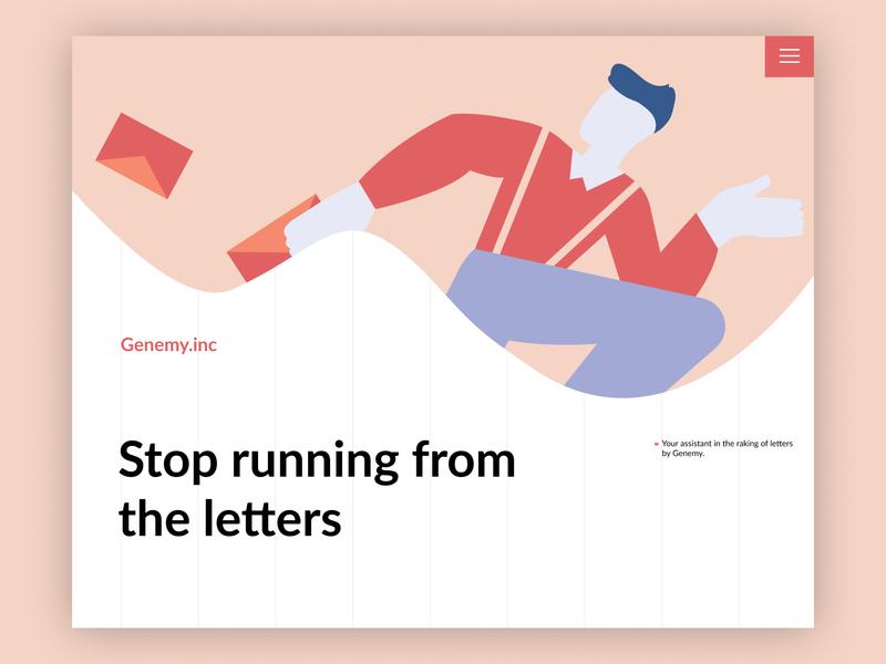 Genemy illustration desktop web ui ux typography minimal design