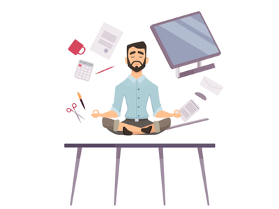 Every day is Monday! relax meditation lottie animation 2danimation freelancer freelance office office yoga yoga