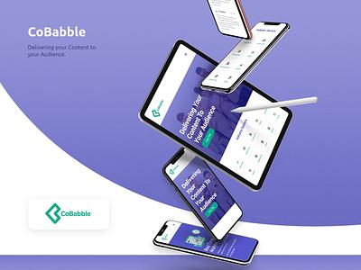 CoBabble Web adobe xd online platform improving learning landingpage web design and development web developer webdesign web