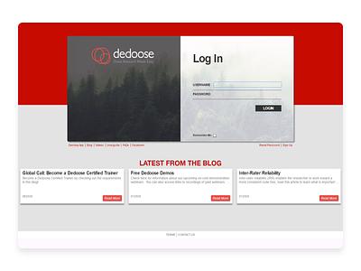 Dedoose log in screen redesign login screen uxui ux login web ui adobe xd 2d animation motion graphics lottie animation