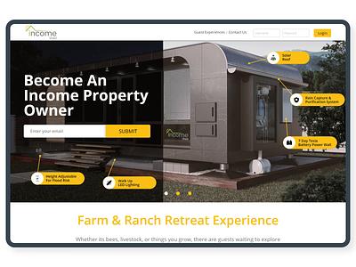 Income Shed website design webdesign adobexd web website design