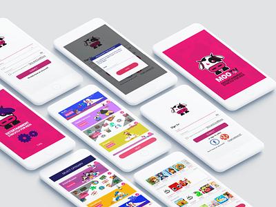 MooTv Kids app design application uidesign uiux ui app kids app