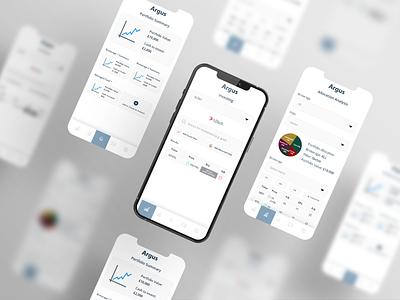 Argus financial app adobe xd finance business ui app designer invest app financial app finances