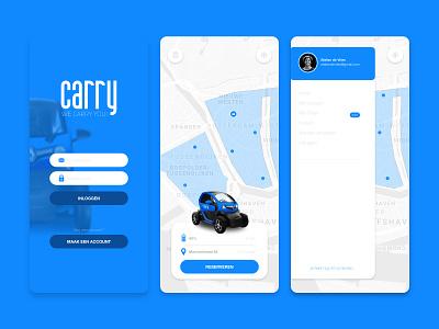 E-Sharing App in Rotterdam   Carry illustration vector minimal flat app uidesign dribbble app design designinspiration ux graphicdesigner graphicdesign branding ui logo design