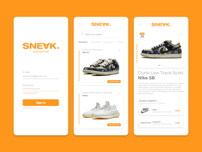 Sneaker App   SNEAK icon app typography minimal flat uidesign dribbble logo design ux ui graphicdesigner graphicdesign designinspiration branding app design