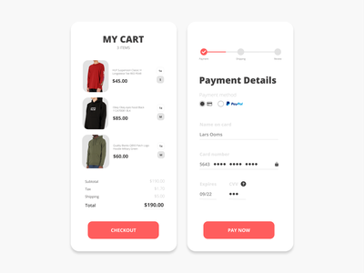 Daily UI 02   Credit Card Checkout 🛒 flat typography ui checkout page checkout graphicdesigner dailyuichallenge graphicdesign minimal dribbble design dailyui 002 dailyui