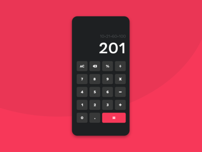 Daily UI 04 | Calculator!