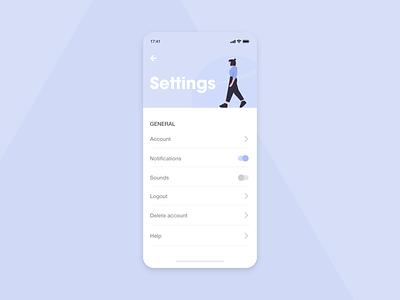 Daily UI 07   Settings! 😁 settings ui settings page daily ui dailyui 007 dailyuichallenge ui flat minimal branding dailyui graphicdesign dribbble design