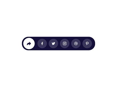 Daily UI 10   Social Share social share social share button uidesign daily ui 010 dailyuichallenge dailyui flat ui minimal graphicdesigner graphicdesign dribbble design