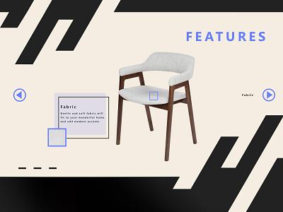 Design for Furniture studio ux design chair furniture ui front end design chairs branding design