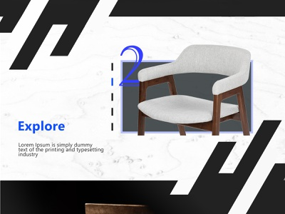 Furniture Studio black  white component front end ui  ux ux design ux ui furniture front end design chairs chair branding design