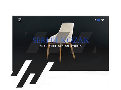 Furniture Studio Design Hero V2 ux design ux furniture chairs chair ui front end design branding design