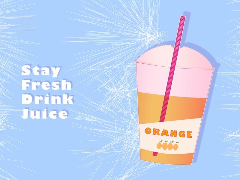 Orange Juice orange orange juice juice branding illustration typography design