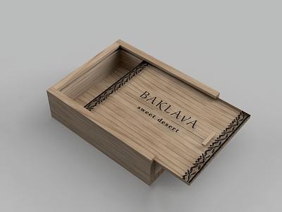Baklava package box 3d modeling 3d design candy packaging package design package sweets packaging sweets baklava 3d illustration box typography branding design