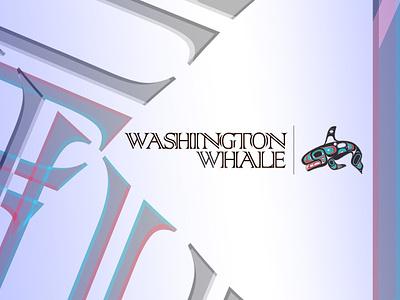 Washington Whale identity design identity branding identity icon logotype marks mark whales whale design washington state washington illustration branding logo