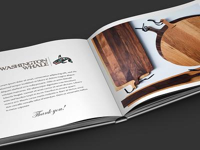 Catalog cutting board typography branding design
