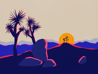 Joshua Tree logo design illustration art art illustration digital illustration art