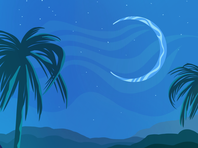 Warm Nights design illustration art art illustration digital illustration art
