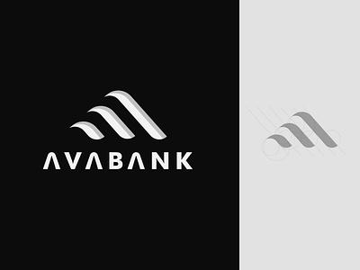 AVABANK illustrator typography icon minimal flat illustration clean logo vector design