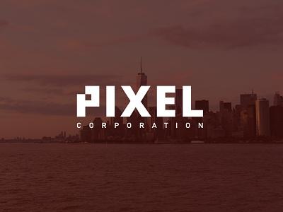PIXEL typography identity minimal flat illustrator illustration clean logo vector design
