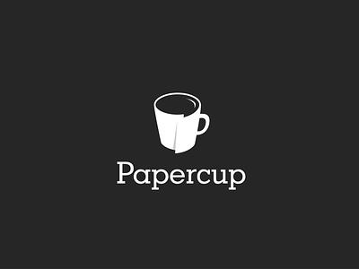 PaperCup icon identity minimal flat illustrator illustration clean logo vector design