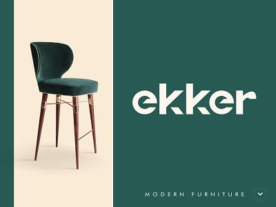 ekker branding identity minimal flat illustration illustrator clean logo vector design