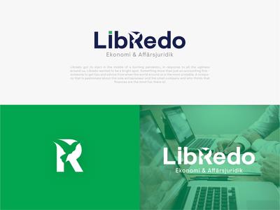 Libredo Logo Design creative clean illustrator typography branding identity minimal logo vector design