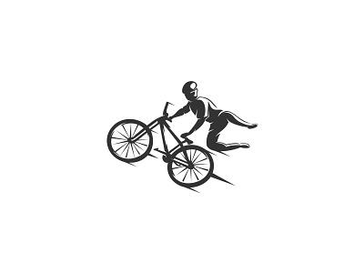 Bike Fly inspiration awesome creative illustrator flat logo branding minimal identity illustrator flat logo clean vector illustration design