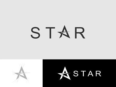 STAR Wordmark typography branding identity minimal flat illustrator clean logo vector design