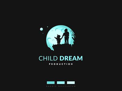 Child Dream Production Logo adobe illustrator vectorart dream child illustrator illustration clean logo vector design