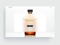Whiskey Label and Website Mockup Prototype