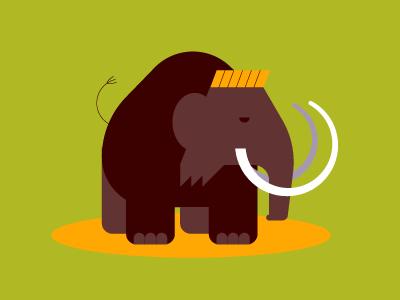 Wooly elephant tusks animal mammoth